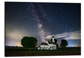 Aluminium print  Milky Way over St. Johann in Raisting - MUXPIX