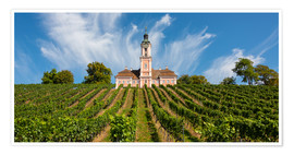 Premium poster The pilgrimage church of Birnau on Lake Constance