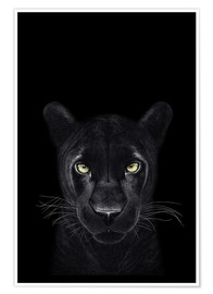 Premium poster Black Panther on a black ground II