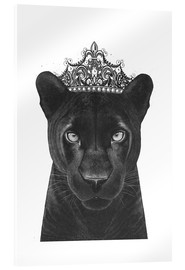 Acrylic glass  The Queen panther - Valeriya Korenkova