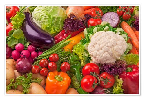 Premium poster Colorful vegetables