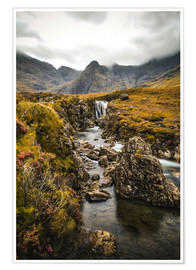 Premium poster Fairy Pools, Isle of Skye