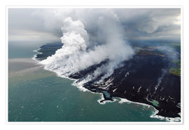 Premium poster Hawaii lava flow 1