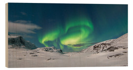 Wood print  Northern Lights at the North Cape - Bjoern Alicke
