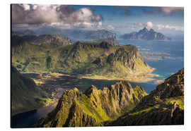 Aluminium print  Mountains and fjords in Norway - Dennis Fischer