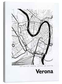 Canvas print  City map of Verona - 44spaces
