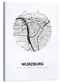 Canvas print  City map of Würzburg - 44spaces