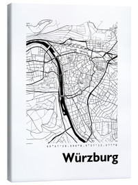 Canvas  City map of Würzburg - 44spaces