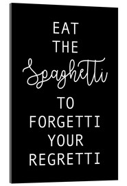 Acrylic print  Eat the Spaghetti black - Ohkimiko