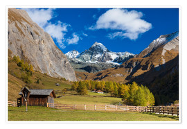 Premium poster Grossglockner in autumn