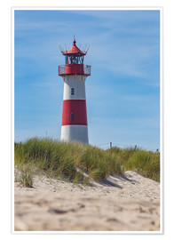 Poster  Striped lighthouse - Heiko Mundel