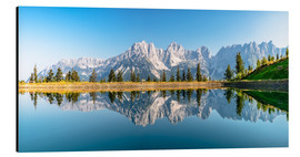 Aluminium print  Kaiser Mountains in Tyrol - Achim Thomae