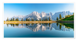 Premium poster Kaiser Mountains in Tyrol