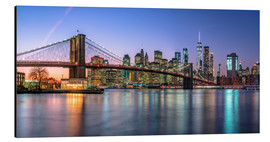 Aluminium print  Colorful lights in New York - Achim Thomae