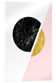 Acrylic glass  Scandinavian composition with marble and gold - Radu Bercan
