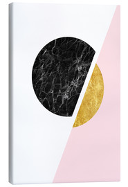Canvas print  Scandinavian composition with marble and gold - Radu Bercan