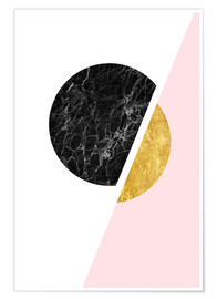 Premium poster  Scandinavian composition with marble and gold - Radu Bercan