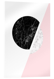 Acrylic print  Scandinavian composition with marble - Radu Bercan