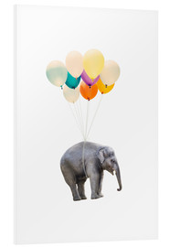 Radu Bercan - Elephant with colorful balloons
