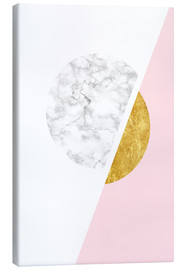 Canvas print  Scandinavian design with marble and gold - Radu Bercan