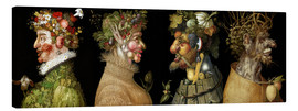 Canvas  The four Seasons - Giuseppe Arcimboldo