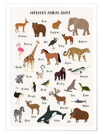 Poster  Learn the ABC - English - Kidz Collection