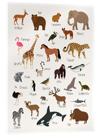 Acrylic glass  Favorite animals - German - Kidz Collection