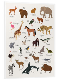Foam board print  Favorite animals (German) - Kidz Collection
