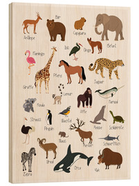 Wood print  Favorite animals (German) - Kidz Collection