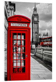 Acrylic glass  London telephone box and Big Ben - Art Couture