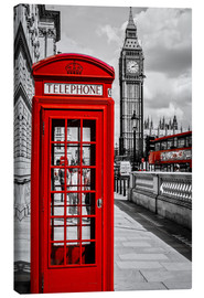 Canvas  London telephone box and Big Ben - Art Couture