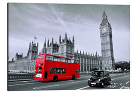 Alu-Dibond  Red bus on Westminster Bridge - Art Couture