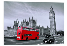 Forex  Red bus on Westminster Bridge - Art Couture