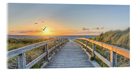 Acrylic print  Footbridge, Baltic Sea - Art Couture
