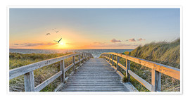 Poster  Footbridge in the Baltic Sea dunes - Art Couture