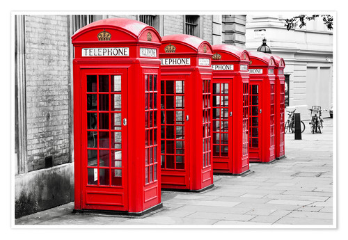 Premium poster London telephone box