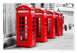 Premium poster  London telephone box - Art Couture
