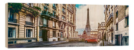 Wood print  Parisian charm - Art Couture