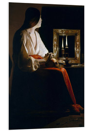 Foam board print  The Penitent Magdalen - Georges de la Tour