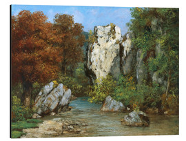Aluminium print  Landscape by the stream - Gustave Courbet