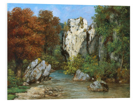 Forex  Landscape by the stream - Gustave Courbet