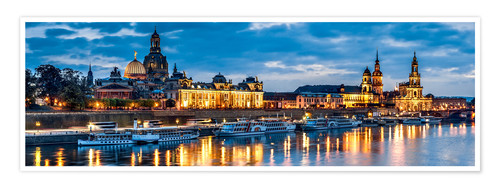 Premium poster Dresden at night