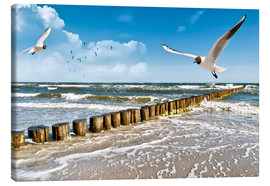 Canvas  Seagulls on Sylt - Art Couture