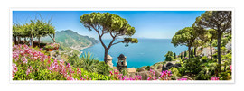 Poster  Picturesque coast at Amalfi - Art Couture
