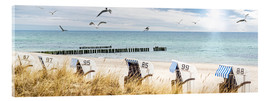 Acrylic print  Beach day at the Baltic Sea - Art Couture