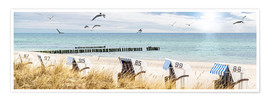 Premium poster  Beach day at the Baltic Sea - Art Couture