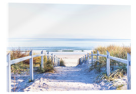 Acrylic glass  Dunes way on Sylt - Art Couture