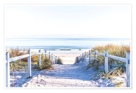 Poster  Dunes way on Sylt - Art Couture