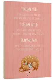 Wood print  Sweet Dreams / Träume süß (German) - Kidz Collection