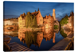 Canvas print  View from Rosenkranzkai in Bruges - Michael Valjak